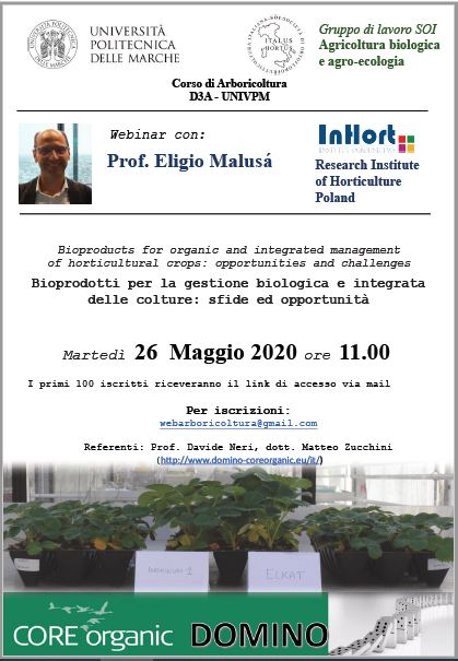 Webinar Bioproducts For Organic And Integrated Management Of Horticultural Crops Excalibur